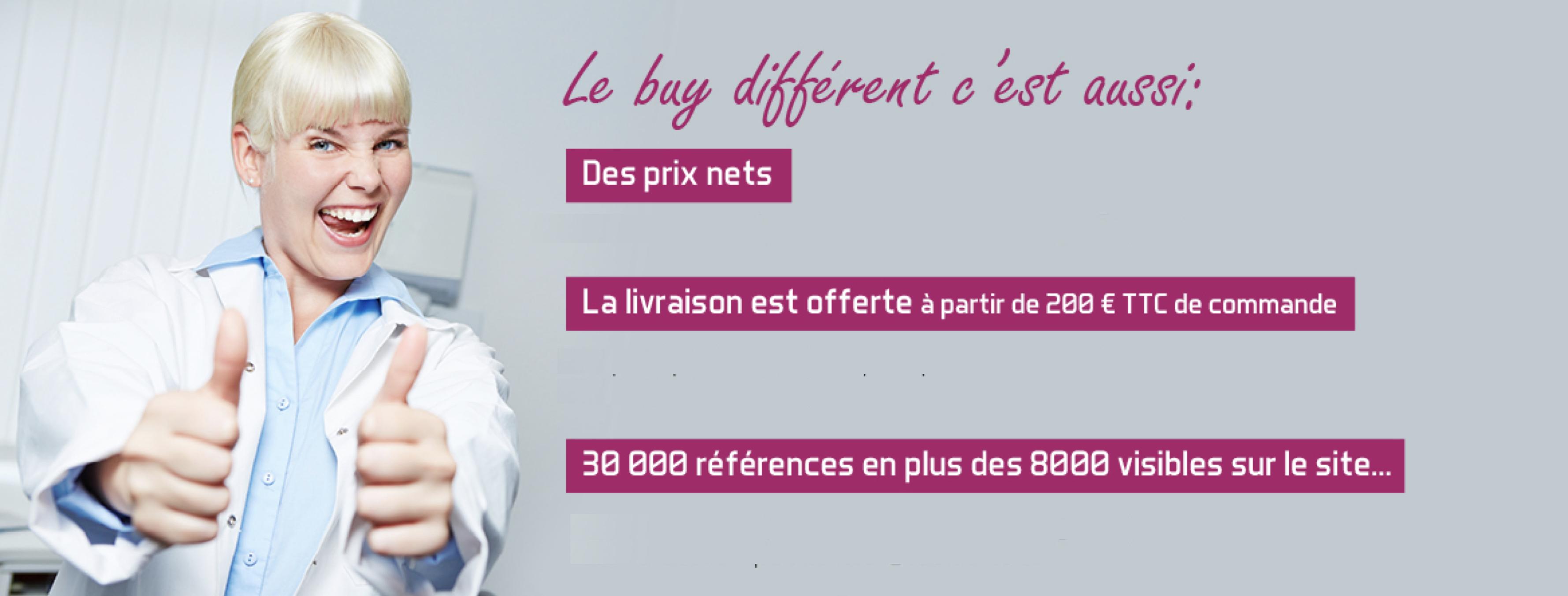 Buy Different c'est aussi des prix nets, la livraison offerte et 30000 références en plus des 8000 visibles sur le site