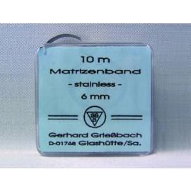 BANDE MATRICE METAL 10 M.