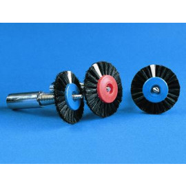 BROSSE A POLIR 3 RANGS- 55 MM- CENTRE PLASTIQUE
