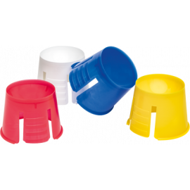 GODET DAPPEN PLASTIQUE COULEURS ASSORTIES X 200