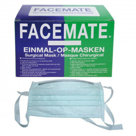 ACTION FACEMATE: MASQUE CHIRURGICAL VERT A LIENS X 50