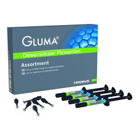 GLUMA DESENSITIZER POWERGEL COFFRET 4 SERINGUES
