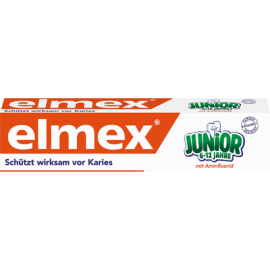 ELMEX JUNIOR 6-12 ANS DENTIFRICE TUBE 75 ML X 12