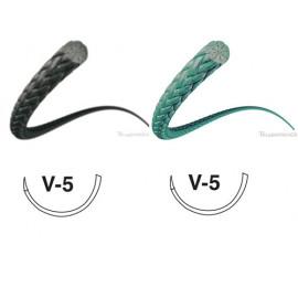 PERMA-HAND SOIE NOIRE- AIG. V5- FIL:4/0- 45 CM X 12